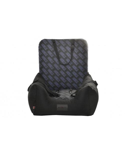 Fotelik samochodowy dla psa Lady print niebieski