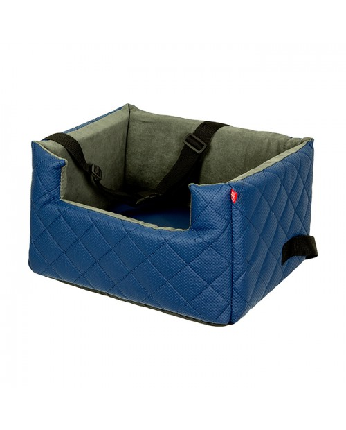 Fotelik samochodowy dla psa lub kota Mia LUX niebieski
