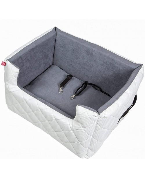Fotelik samochodowy dla psa lub kota Mia LUX biały