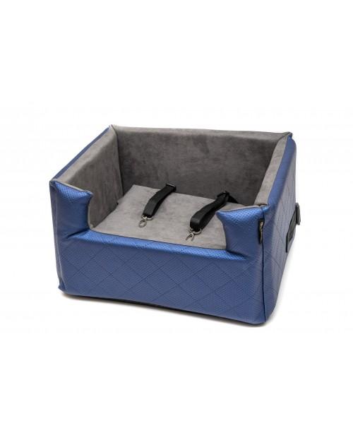 Fotelik samochodowy dla psa lub kota Mia LUX metallic niebieski