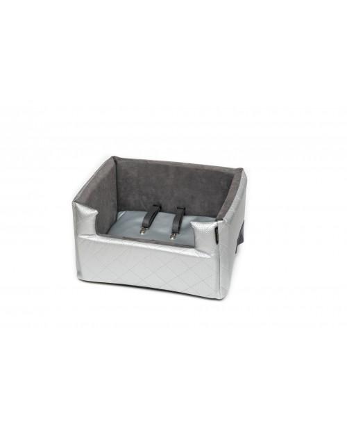 Fotelik samochodowy dla psa lub kota Mia LUX metallic silver