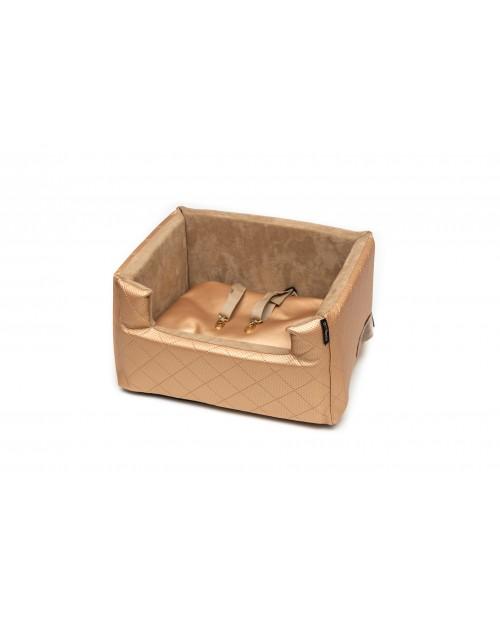 Fotelik samochodowy dla psa lub kota Mia LUX metallic złoty