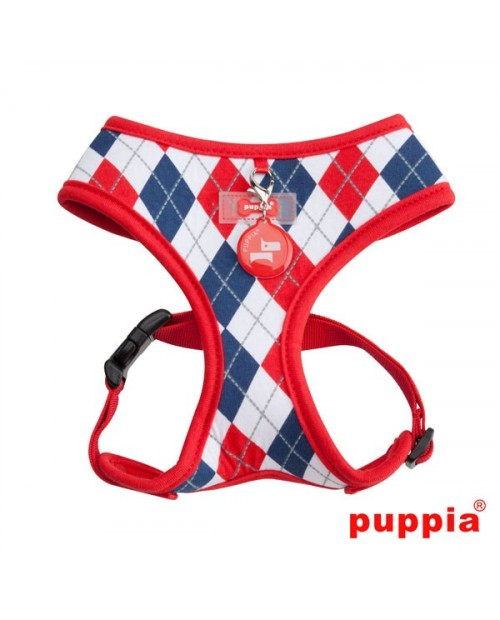 Szelki dla Psa Puppia Argyle Harness Red