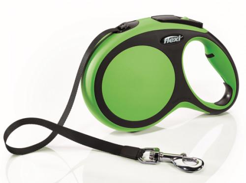 Zielona smycz Flexi